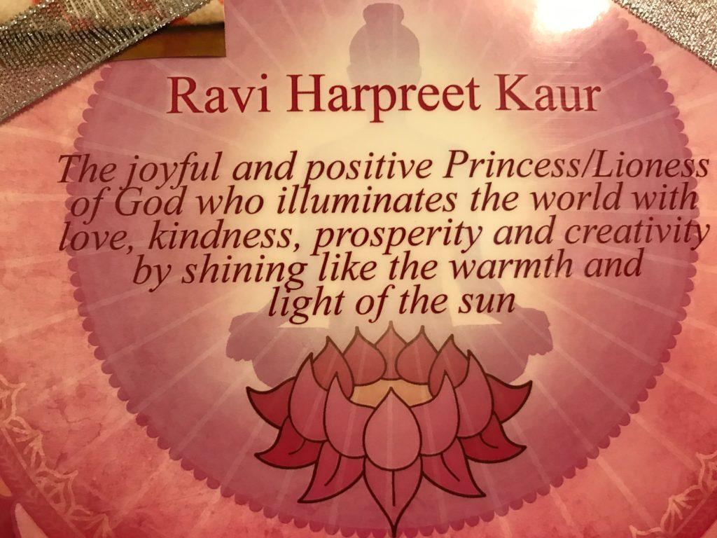 Ravi Harpreet Kaur – Shining peace  Sharing love